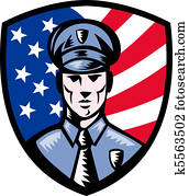 Policeman Police Officer american