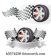 automobile race element