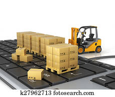 Concept of delivering, shipping or