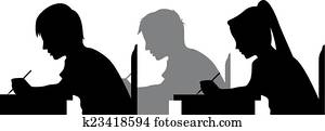 Exam Silhouette