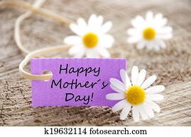 Purple Label with Happy Mothers Day
