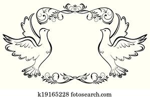 Hochzeitstauben Clipart Lizenzfrei 3 245 Hochzeitstauben Clip Art