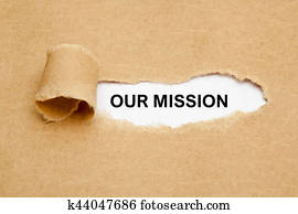 Our Mission Ripped Paper Concept