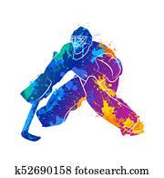 player hockey goalie