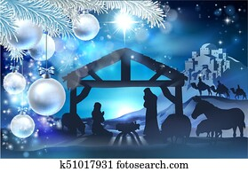 Nativity Christmas Abstract Background