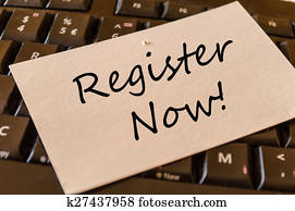 Register Now Concept on Keyboard