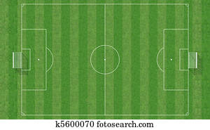aerial view of a soccer field -3d rendering
