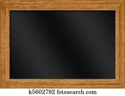 illustration blank blackboard