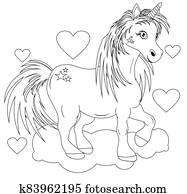 coloring book unicorn