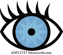 Eye and eyelashes