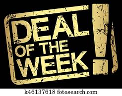 gold stamp with text deal of the week