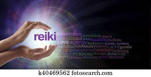 Reiki Vortex Healing Word Cloud