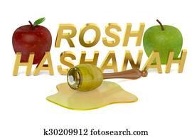 Rosh Hashanah Jewish New Year concept