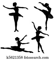 Ballet Dancer Silhouettes - 2