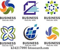 business logo set