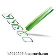 Check list. Vector illustration