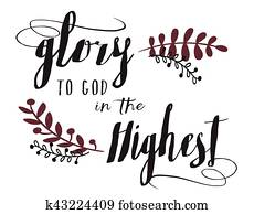 Glory to God in the Highest typography Design Art
