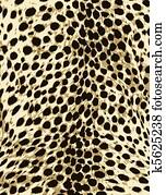 leopard, mode, tier haut- druck