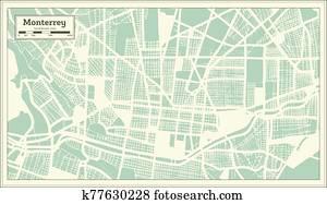 City of Monterrey - 1909 - Stroly |Old Monterrey Mexico Map