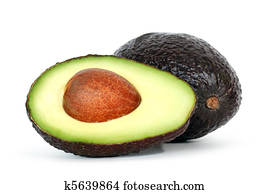 Avocado with shadow