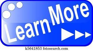blue internet web button LEARN MORE icon