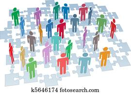human resources, gesellschaft, anschluss, puzzlesteine, vernetzung