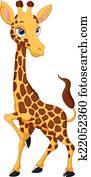 karikatur, giraffe