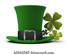 St Patricks hat and clover