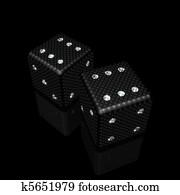 dice with diamonds