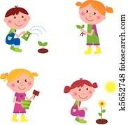 Gardening children collection