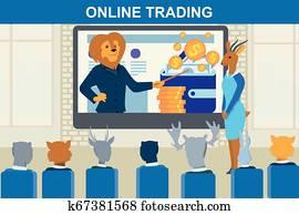 online handelnd, finanz, strategie, gesch?ft ausbildung