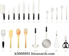 Kitchen Utensils Set Vector