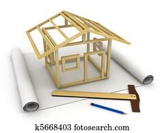 Model Skeleton House