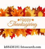 Abstract Illustration Autumn Happy Thanksgiving Backgroun