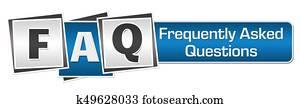 FAQ Blue Grey Squares Bar