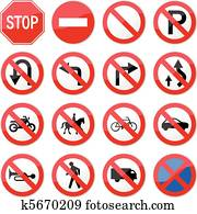 Prohibited Stop Road Sign
