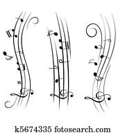 Sheet music musical notes