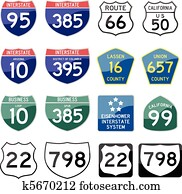 State Road Sign Glossy