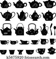 Tea Teapot Cup Asian Oriental