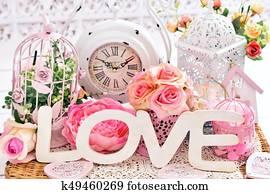 romantic shabby chic love decoration