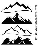 unterschiedliche, bergwelt