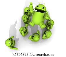 3D ANDROID CELEBRATE