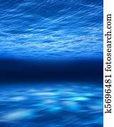 Deep blue sea underwater