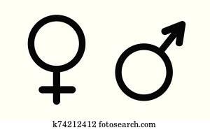 geschlecht symbol, vector.
