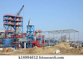 petrochemical plant heavy industry construction site