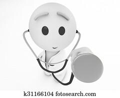 a cute 3d medic (3d isolated happyman series)