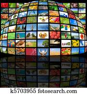 Television production technology concept