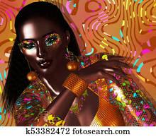Avant garde fashion and beauty scene