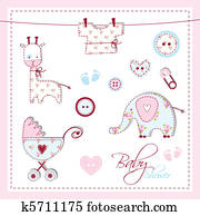 Baby shower design elements