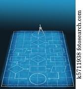 Flowchart blueprint plan process management compass
